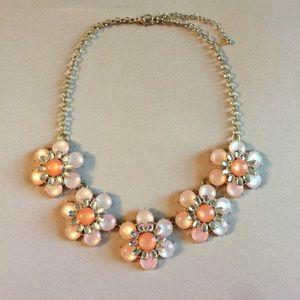 Francesca's pink & peach statement necklace